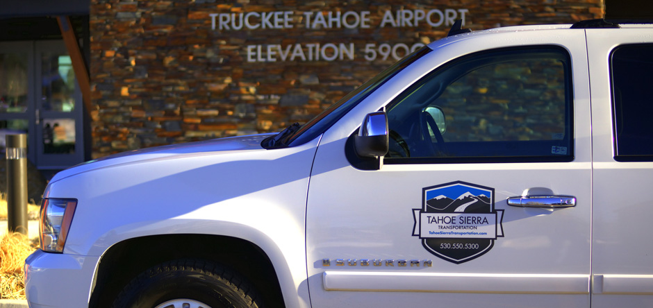 Tahoe Sierra Transportation car service at the Truckee Tahoe Airport.