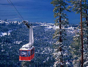 Skiing at Heavenly Mountain Resort in South Lake Tahoe.