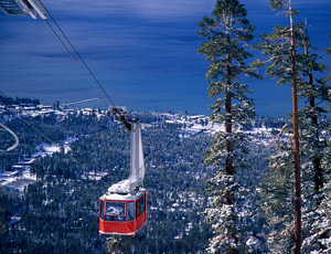 Tram at Heavenly Ski Resort at Lake Tahoe, California.