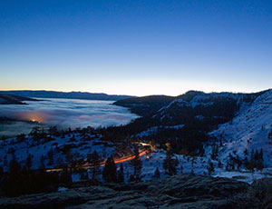 Inversion over Lake Tahoe California.